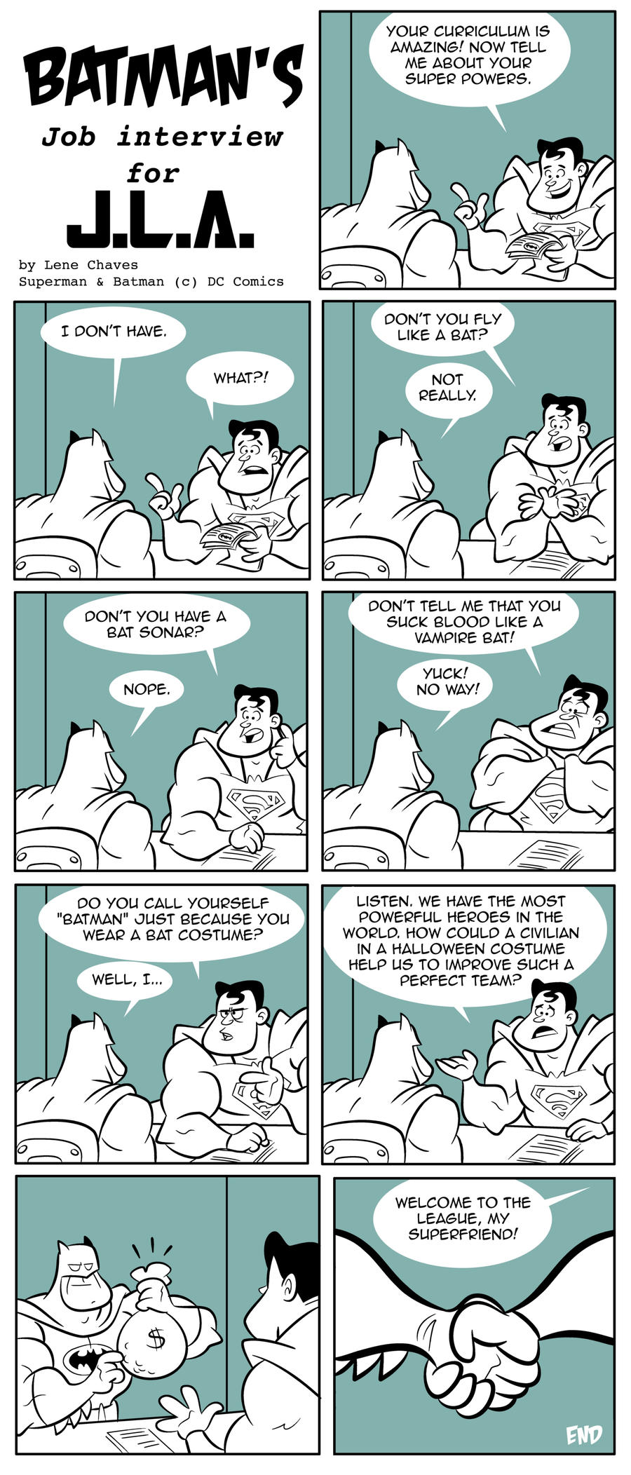 Batmans job interview by BezerroBizarro