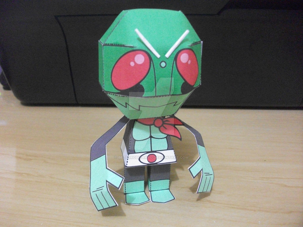 Kamen Rider papertoy by BezerroBizarro