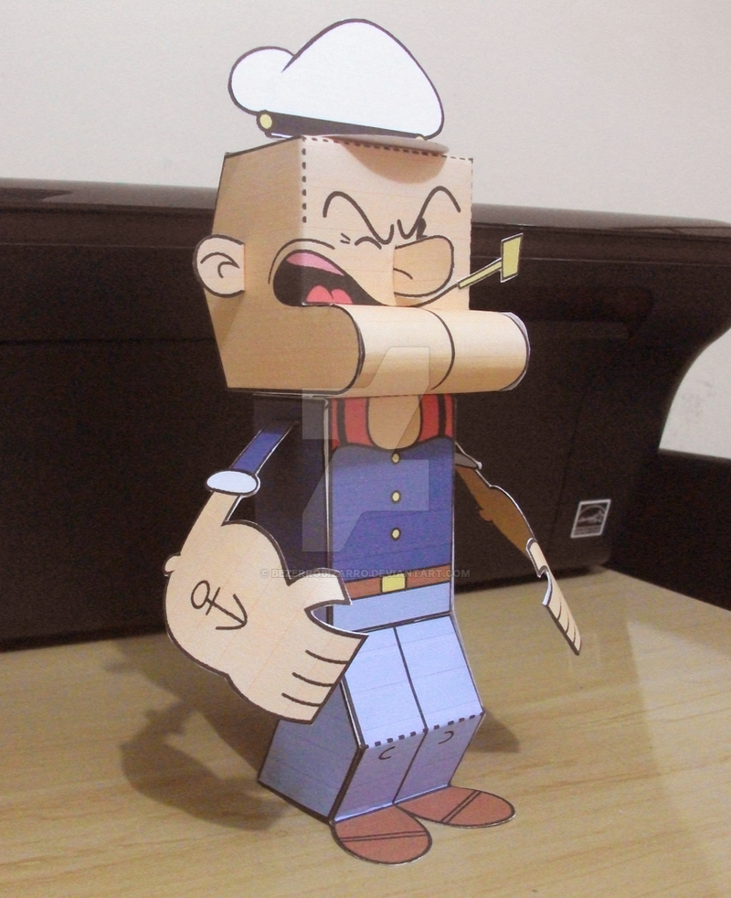 Popeye the Paperman by BezerroBizarro