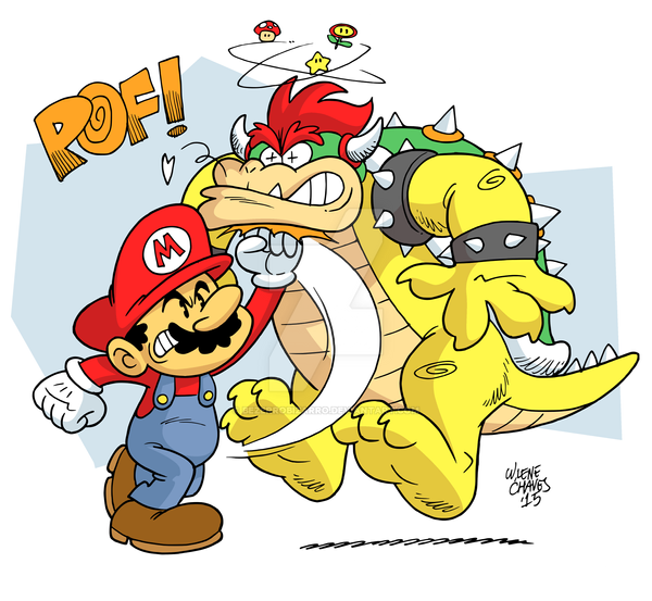 Mario vs Bowser by BezerroBizarro