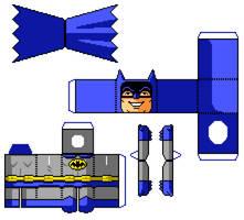 Batman Pixelcraft! (Pixelart + Papercraft)