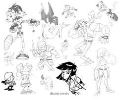 Some sketches by BezerroBizarro