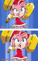 Amy Rose (Sonic X Screen Shot Redraw)
