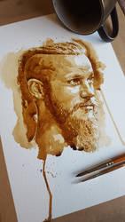 Ragnar Lothbrok coffee art