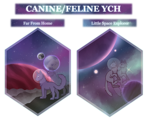 [OPEN] 5$ Canine\Feline Space Themed Chibi YCH