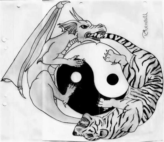 Dragon and Tiger Yin Yang by AutumnCannibal on DeviantArt