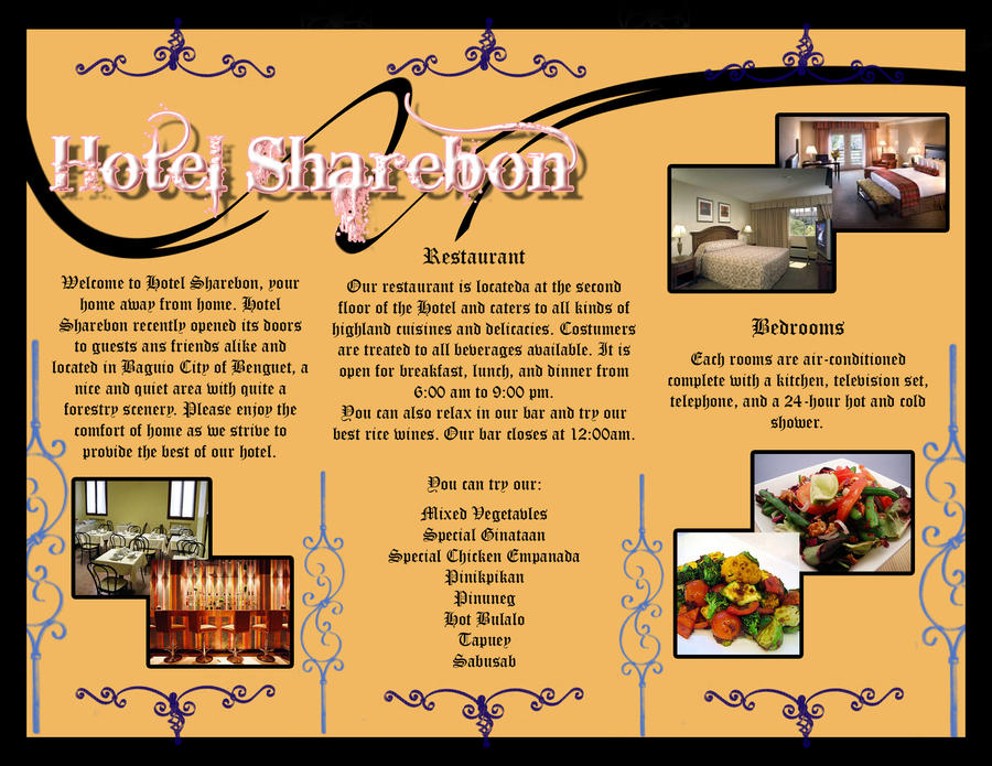 sample brochure by reinfall on DeviantArt – Sample Hotel Brochure