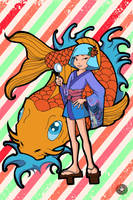 Koi Girl by reinfall