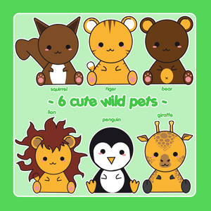 6 cute wild pets