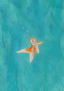 Goldfish in the ocean