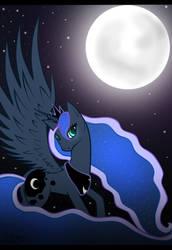 MLP: Princess Luna by RejPiekielnyGrabarz