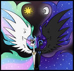 MLP: Celestia and Nightmare Moon