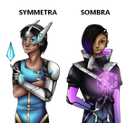 Symmetra and Sombra Male