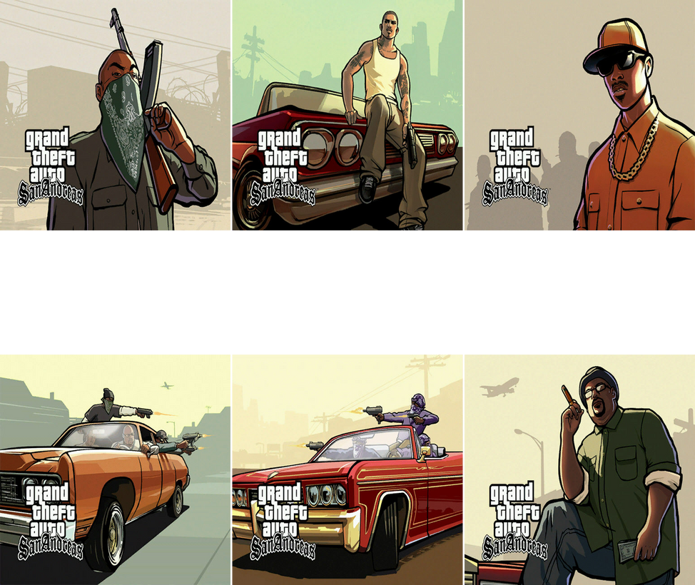 Grand Theft Auto San Andreas (My Favorite Artwork) By