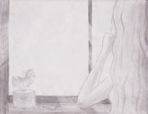 Sketch - Amarante at the window