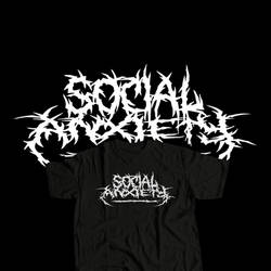 Social Anxiety - Metal Logo
