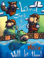 Mario Mario, Land Sea and Air by CraigArndt