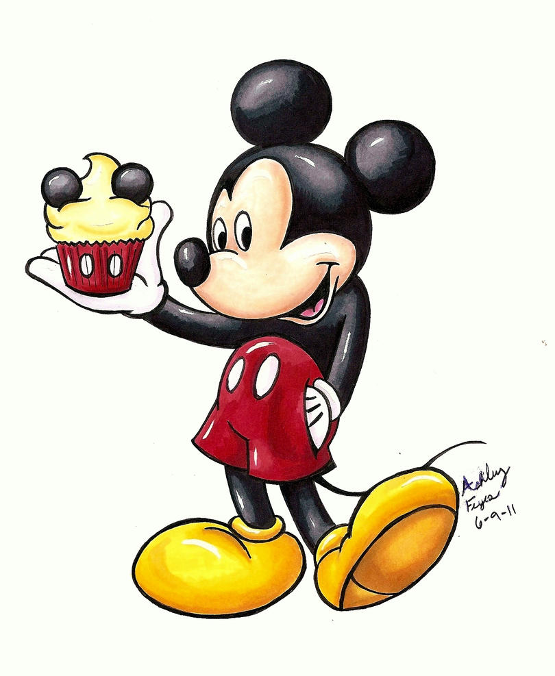 Disney Cupcakes Mickey by ArtCrazy24-7
