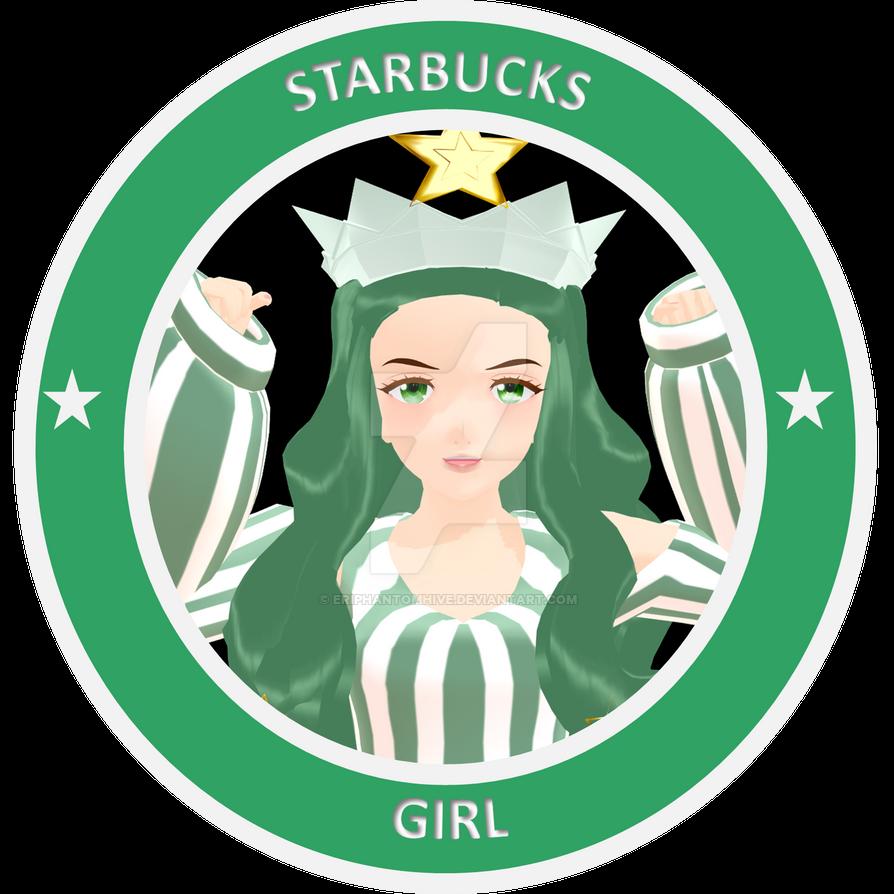 [MMD - OC] Starbucks Girl - Logo by EriPhantomhive on ...