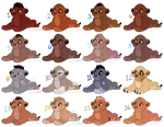{SET PRICE/COLLAB} Lion Cub Adoptables: CLOSED