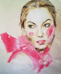 Drawing-karlie-kloss-fashion-illustration by arttart74
