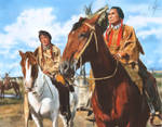 Dustin Hoffman and Chief Dan George