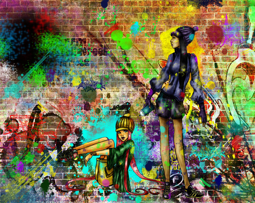 In love with colours-graffiti by Oo-Ninart-oO