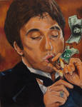 Al Pacino Scarface by Wooodbi