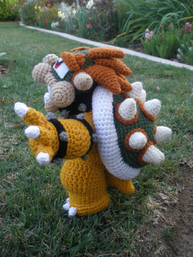 Crocheted Bowser 3 by aphid777 on DeviantArt