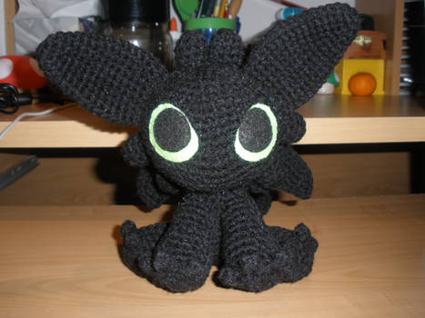 Crocheted Night Fury