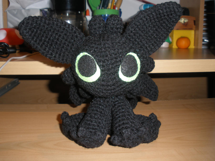 Crocheted Night Fury By Aphid777 On Deviantart