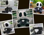 Crocheted Baby Jack Skellington Collage