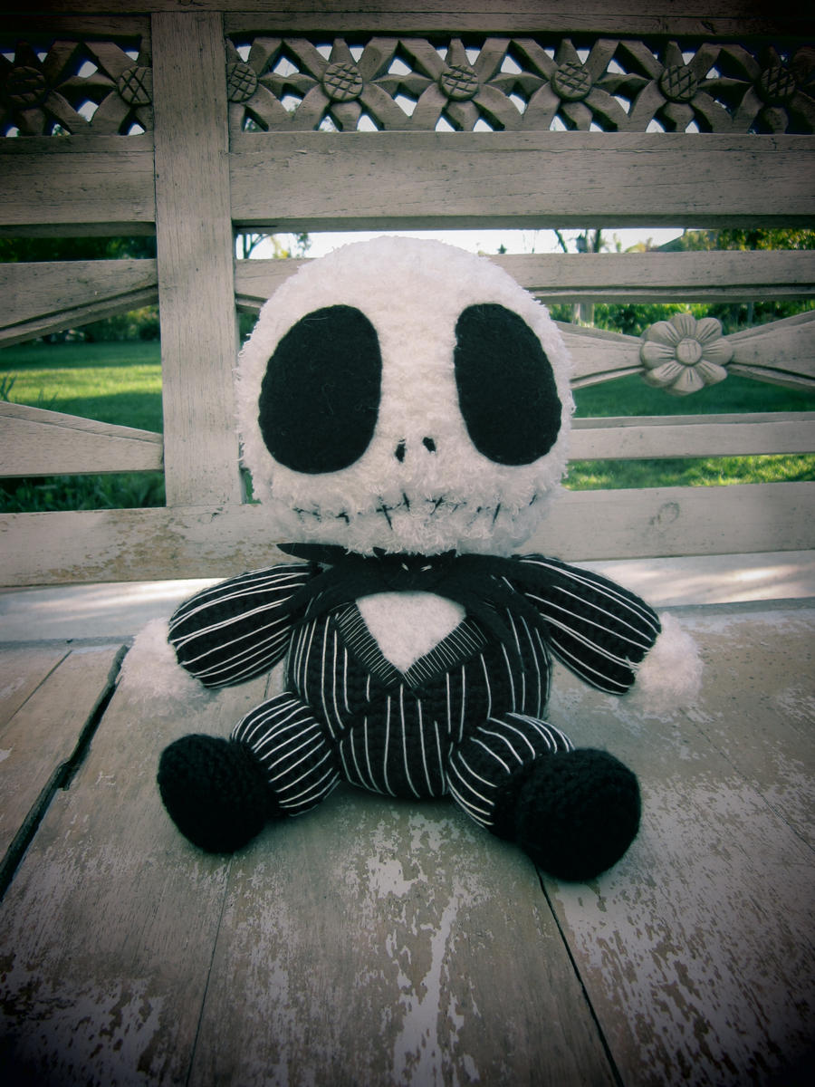 Crochet Jack Skellington : Crocheted Baby Jack Skellington by aphid777 on DeviantArt