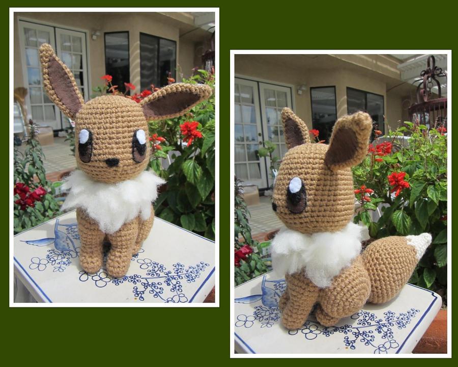 Amigurumi Crochet Pattern Etsy : Crocheted Eevee Plush by aphid777 on DeviantArt