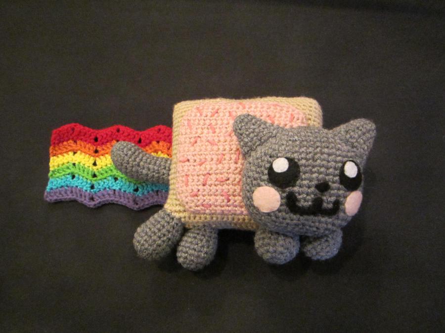 Nyan Cat Amigurumi Free Pattern : Crocheted Nyan Cat Plush by aphid777 on DeviantArt