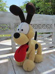 Crocheted Odie!