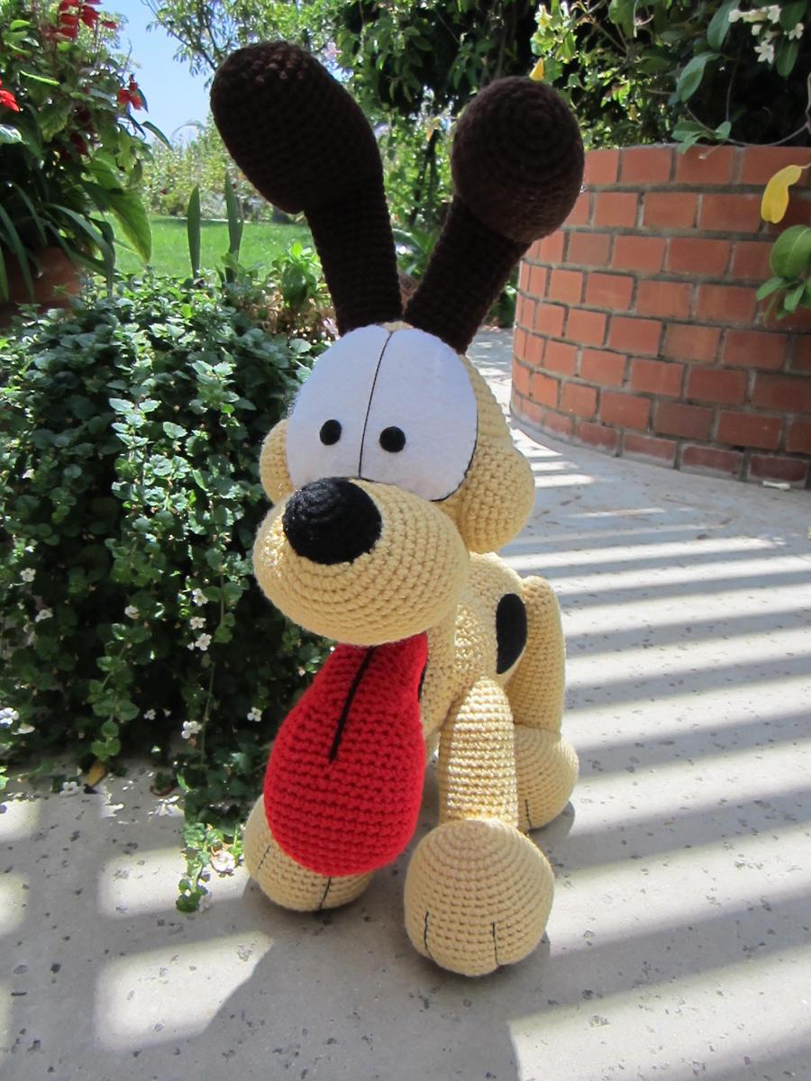Amigurumi Free Patterns Garfield : Crocheted Odie 2 by aphid777 on DeviantArt