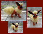 Crocheted Flareon Multi-views