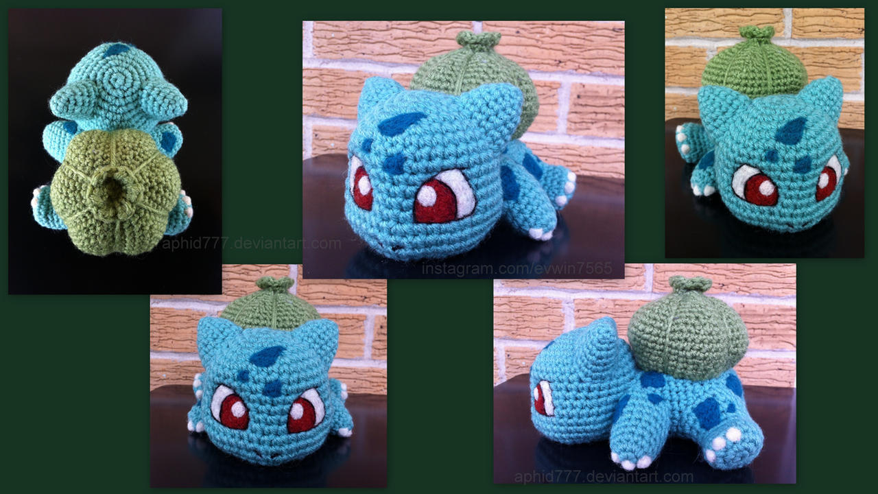 Crochet Patterns For Pokemon : Baby Bulbasaur (with pattern) by aphid777 on DeviantArt