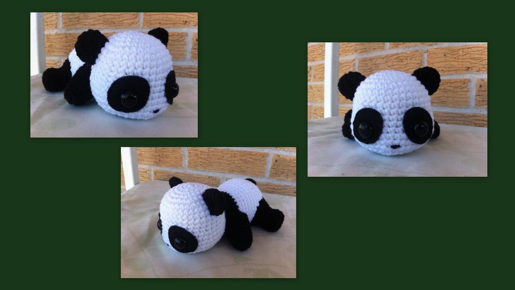 Derpy Panda Bear by aphid777
