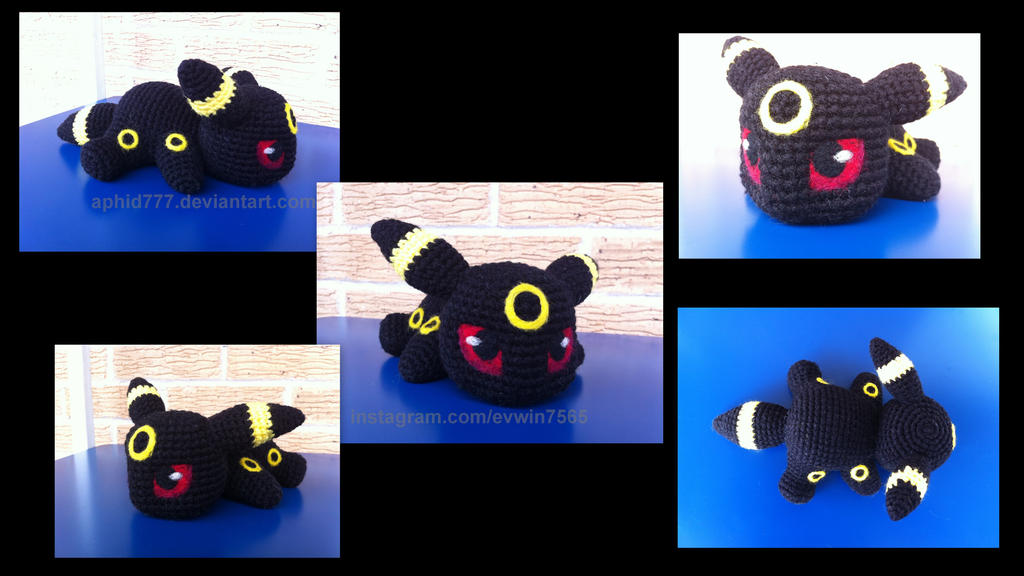 Baby Umbreon Amigurumi : Baby Umbreon (with pattern) by aphid777 on DeviantArt