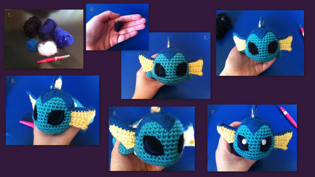 Needle Felted Eyes: A basic picture tutorial by aphid777