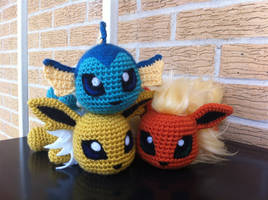 Generation I Eeveelutions by aphid777