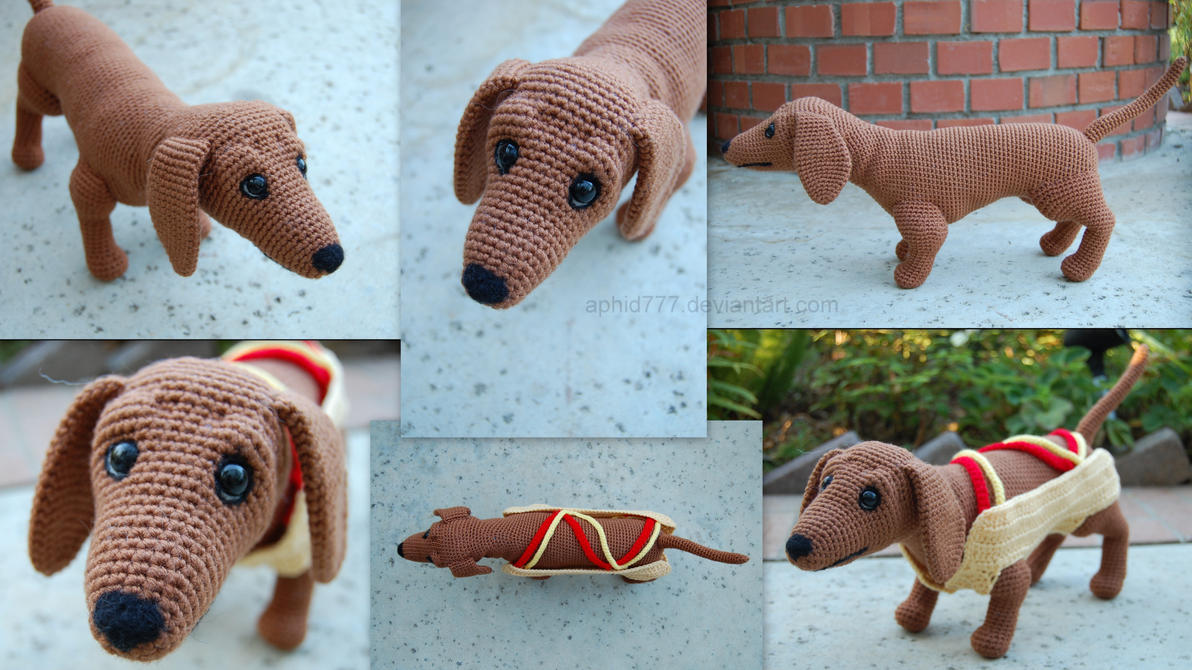 Amigurumi Wiener Dog Pattern : Hotdog by aphid on deviantart