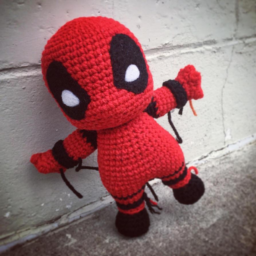 Crochet Wedding Dress Pattern Doll : Deadpool WIP by aphid777 on DeviantArt