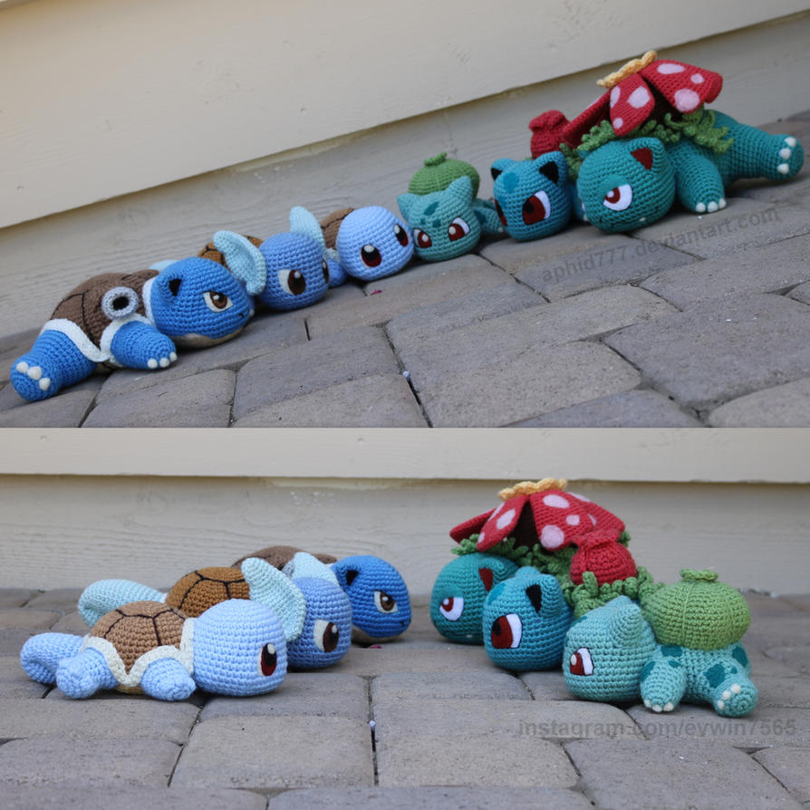 Squirtle/Bulbasaur Group Evolutions by aphid777 on DeviantArt