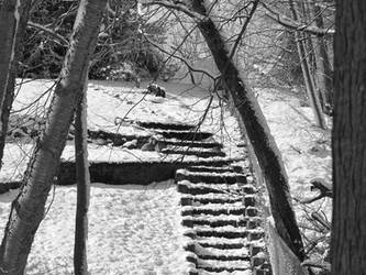 Winter's Stairway by redbluegreen462