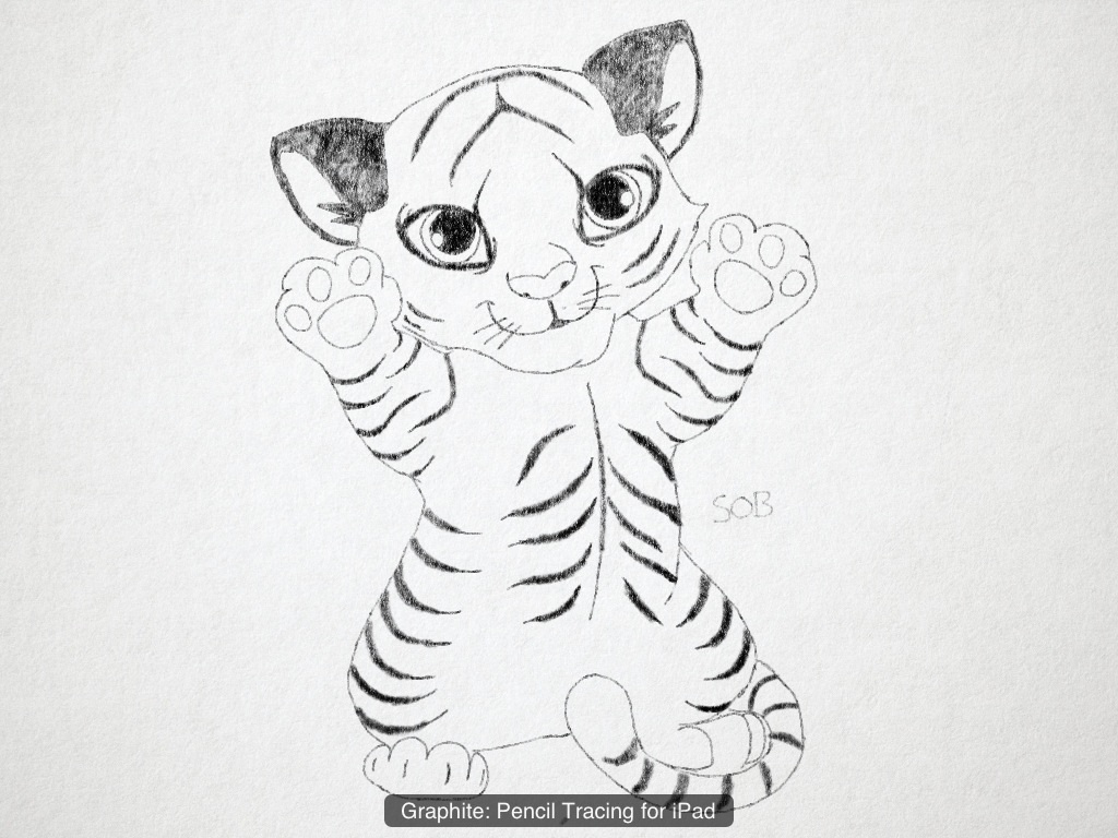 easy pencil drawings of tigers