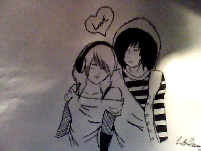 Wallpaper Emo Love couple : Emo couple by AKBFleming on DeviantArt