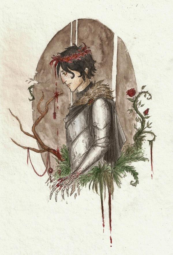 Flowers weep blood by Woodsie-One